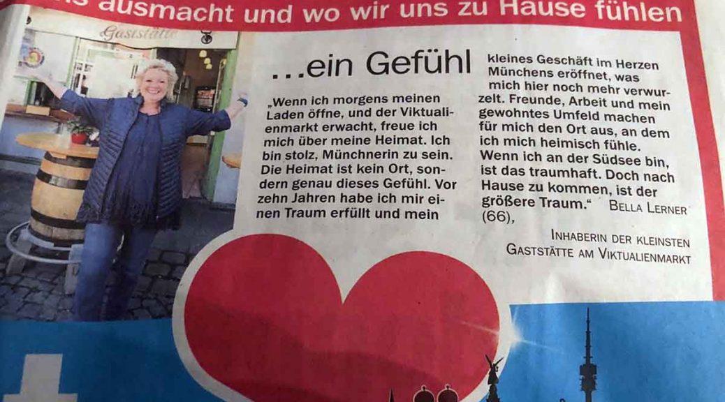 Münchens kleinste Gaststätte in der Zeitung in Münchner TZ